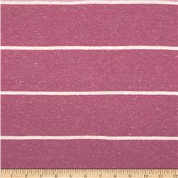 Distressed Tri Blend Jersey Knit Stripe Cream/Lilac