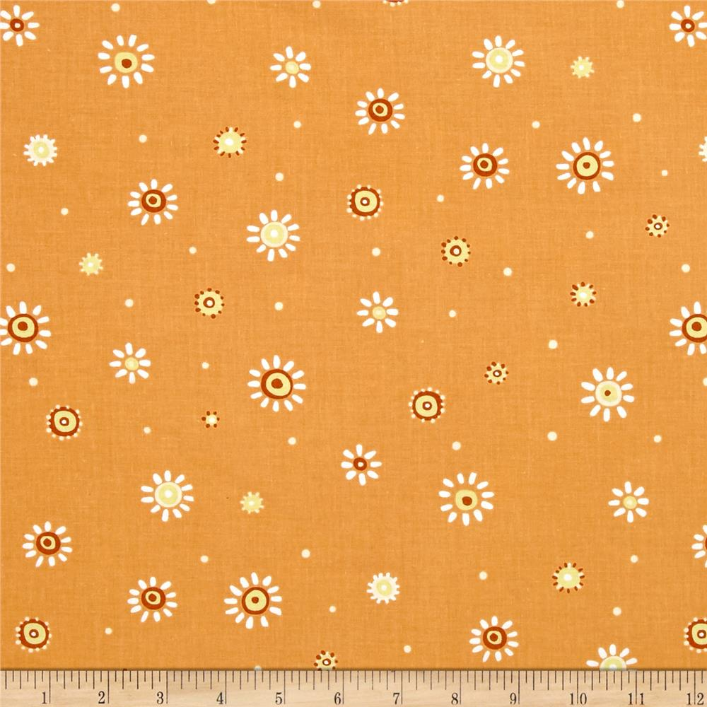 Susybee Zoe the Giraffe Sunburst Dots Orange
