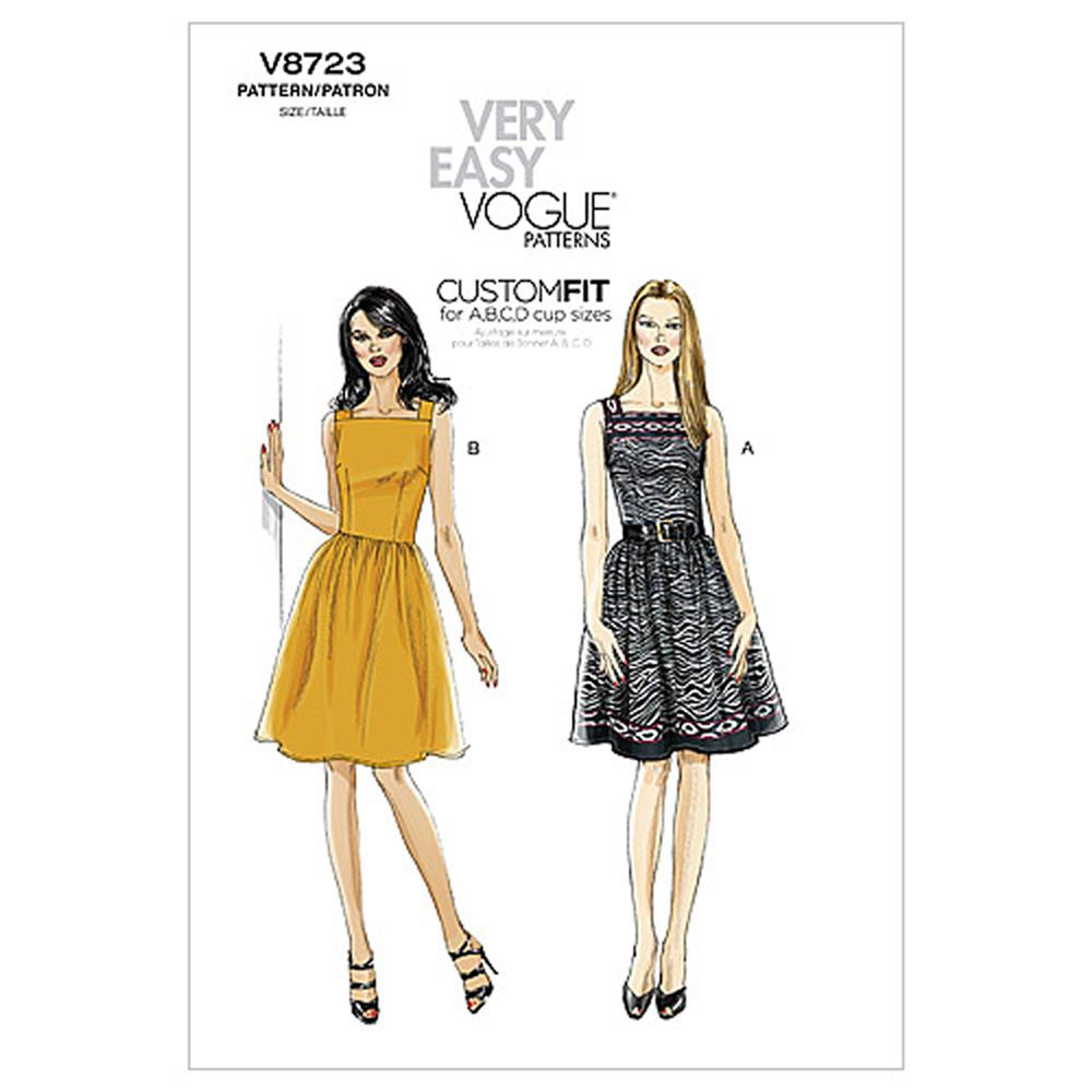 Vogue Misses' Dress Pattern V8723 Size B50