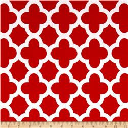 ITY Knit Quatrefoil Print Red