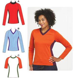 Kwik Sew Knit Tops w/Raglan Sleeves Pattern