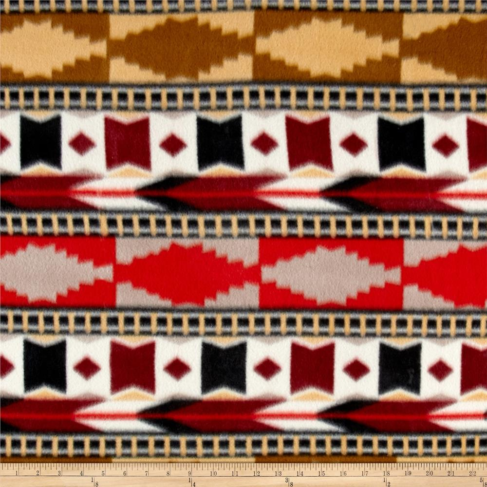 Southwest Fleece Aztec Bohemian Red