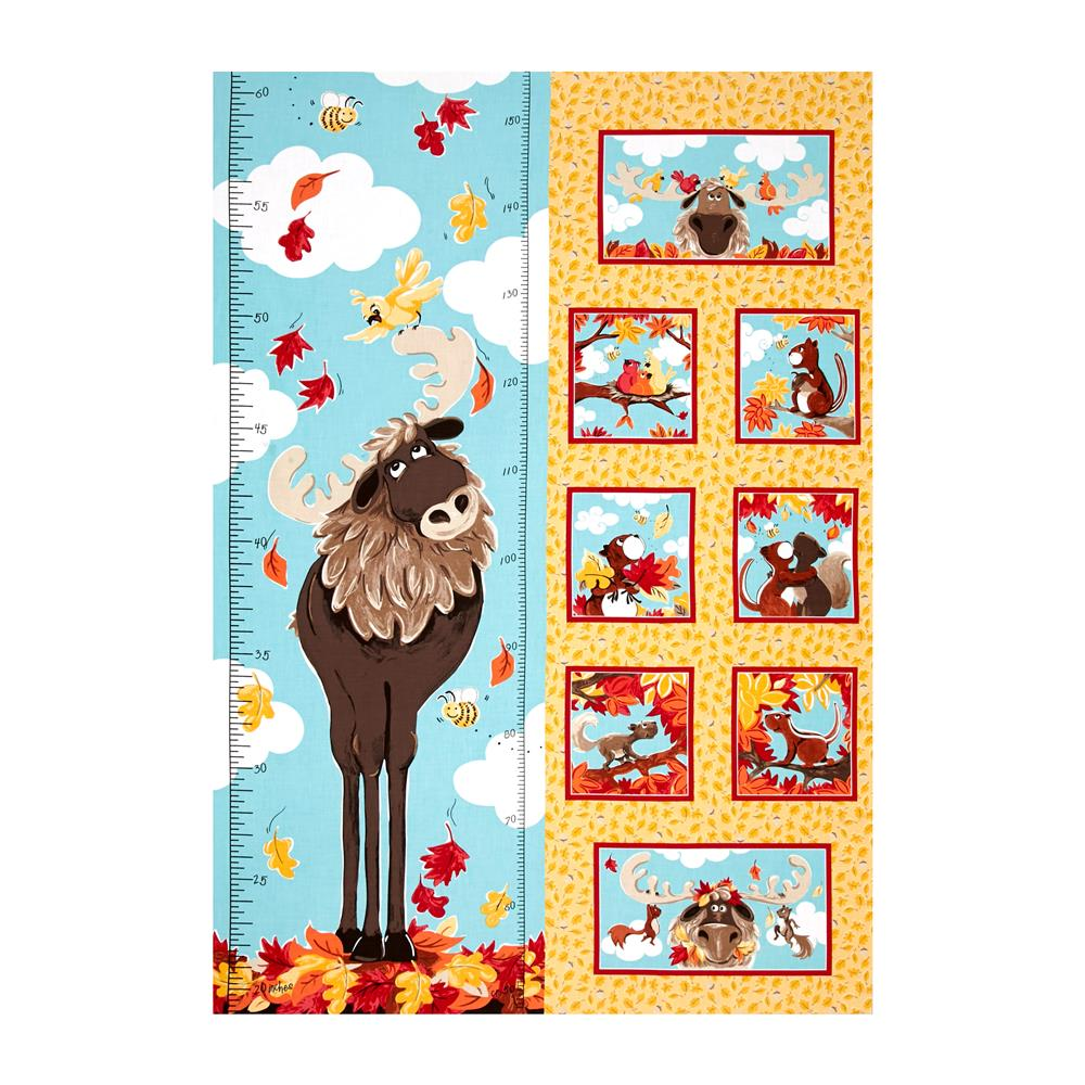 Susybee bruce the moose growth chart 295 panel light gold susybee bruce the moose growth chart 295 panel light gold discount designer fabric fabric geenschuldenfo Images