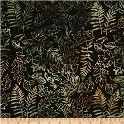 Moda Pine Island Batiks Foliage Steel Brown