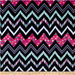 Shannon Minky Cuddle Prints Chic Zag Navy