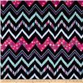 Minky Cuddle Prints Chic Zag Navy