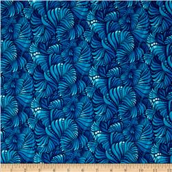 Winter Blues Fan Scallop Medium Blue