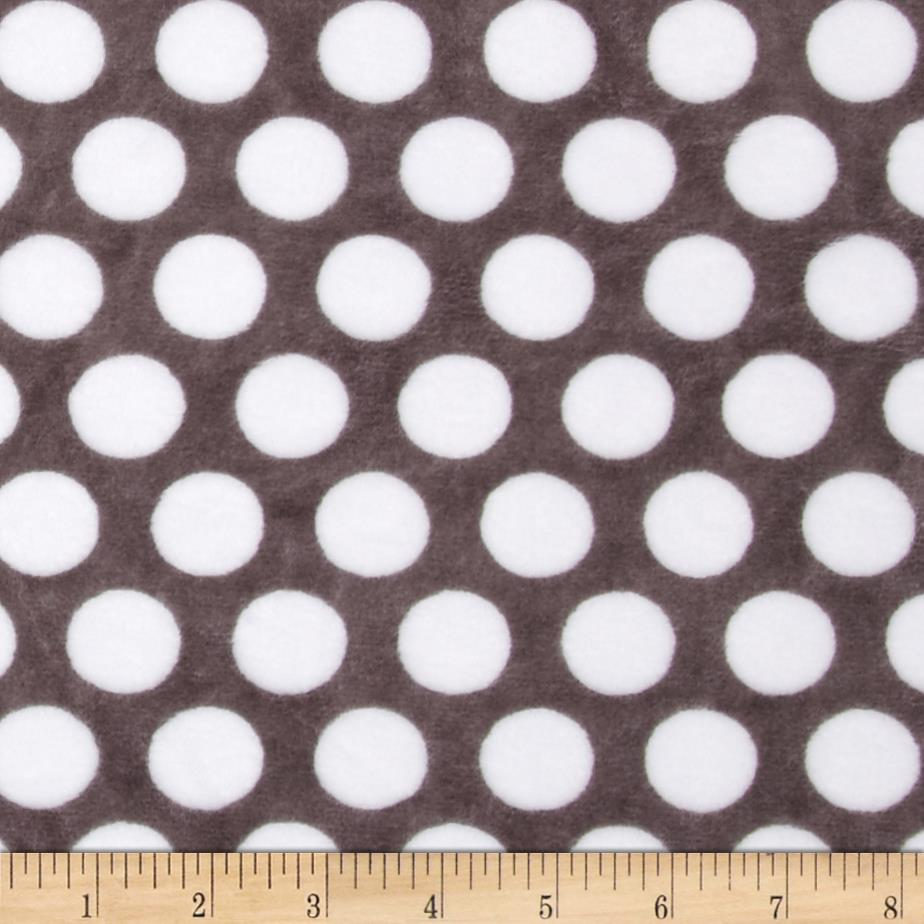 Minky Cuddle Classic Mod Dot Charcoal/Snow