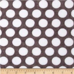 Minky Cuddle Classic Mod Dot Charcoal/Snow Fabric