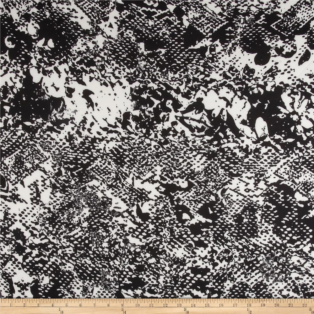 Scuba Reef Knit Abstract Black/White