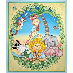 "Nursery Bazooples Sweet Dreams Quilt Panel-36"" Multi"