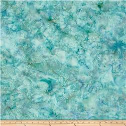 Bali Batiks Handpaints Dotty Circle Sea mist