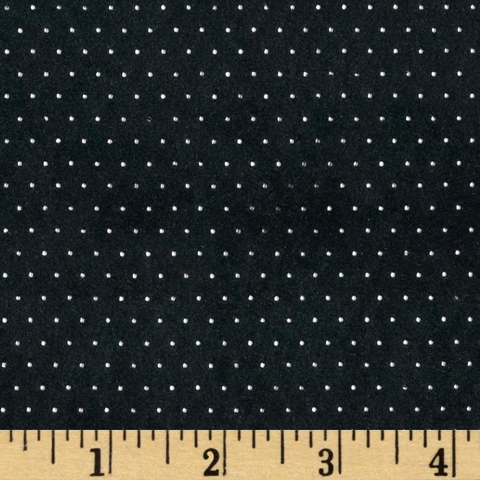 Sutton Suede Knit Pin Dot Black