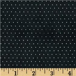 Sutton Suede Knit Pin Dot Black Fabric