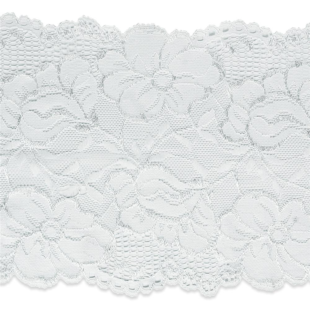 "6"" Annnie Stretch Lace Trim White"