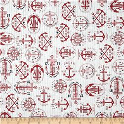 Moda The Boat House Anchors Aweigh Apple Red