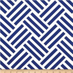 Michael Miller Bekko Home Decor Parquet Navy Fabric