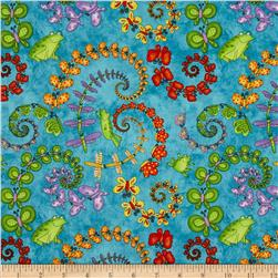 Hip Hop Friends Butterfly Spirals Blue/Multi