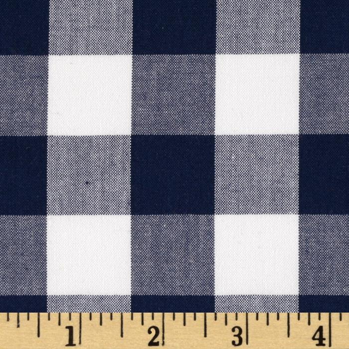 Kaufman 1'' Carolina Gingham Navy