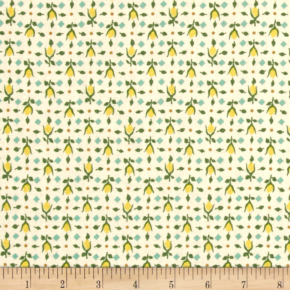 Summer Days Buds Ivory Fabric by MM Fab in USA