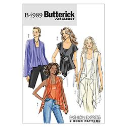 Butterick Misses' Top and Camisole Pattern B4989 Size 0Y0
