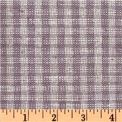 Uptown Raw Silk Suiting Checks Soft Lavender/Cream