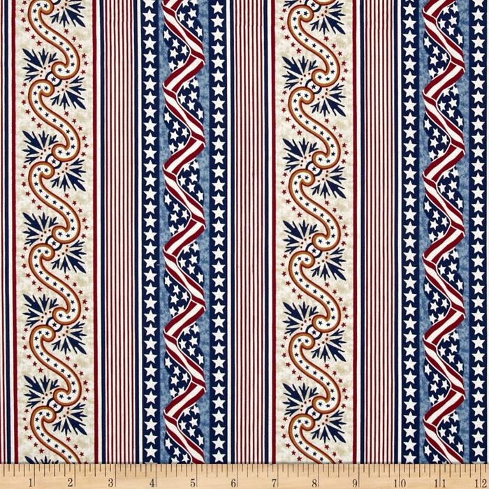 Quilts of Valor Banner Stripe Light Tan