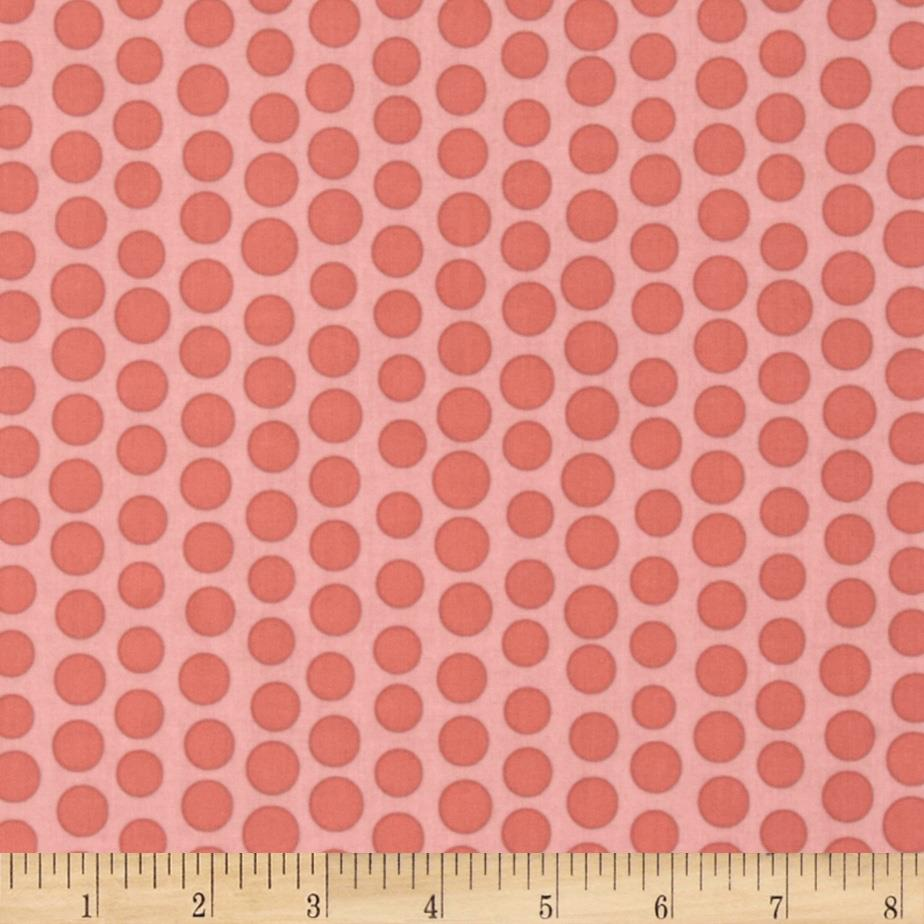 Riley Blake Priscilla Laminate Damask Dots Pink
