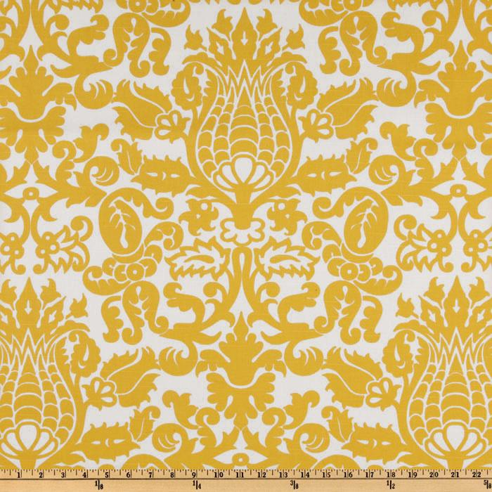 Premier Prints Amsterdam Slub Yellow/White