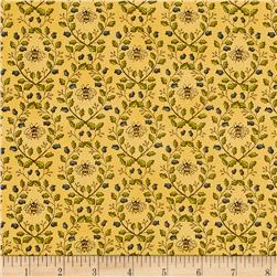 Moda Garden Notes Garden Vines Goldenrod Yellow