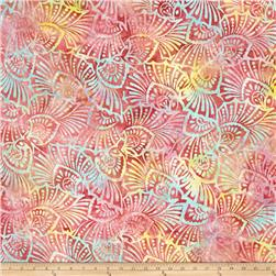 Wilmington Batiks Floral Shells Pink/Yellow