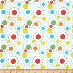 Savanna Bop Flannel Circles White