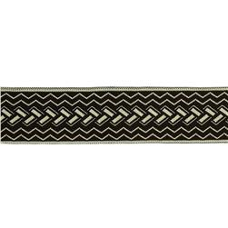"1 1/2"" Woven Home Decor Geometric Trim Chocolate"