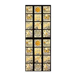 "Moda Bee Inspired Nature Blocks 23.5"" Panel Ebony"
