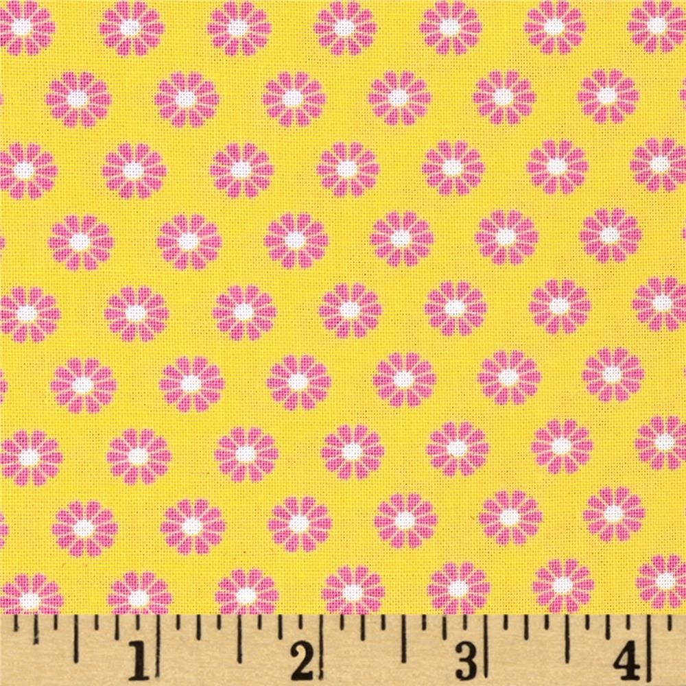 Timeless Treasures Gabrielle Set Small Flower Yellow