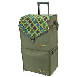 Creative Options Soft Sided Double Decker Rolling Tote