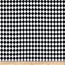 Premier Prints Small Classic Diamond Black/White Fabric