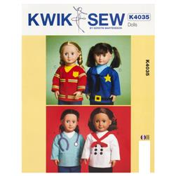 Kwik Sew Dolls Tops for 18'' Dolls Pattern