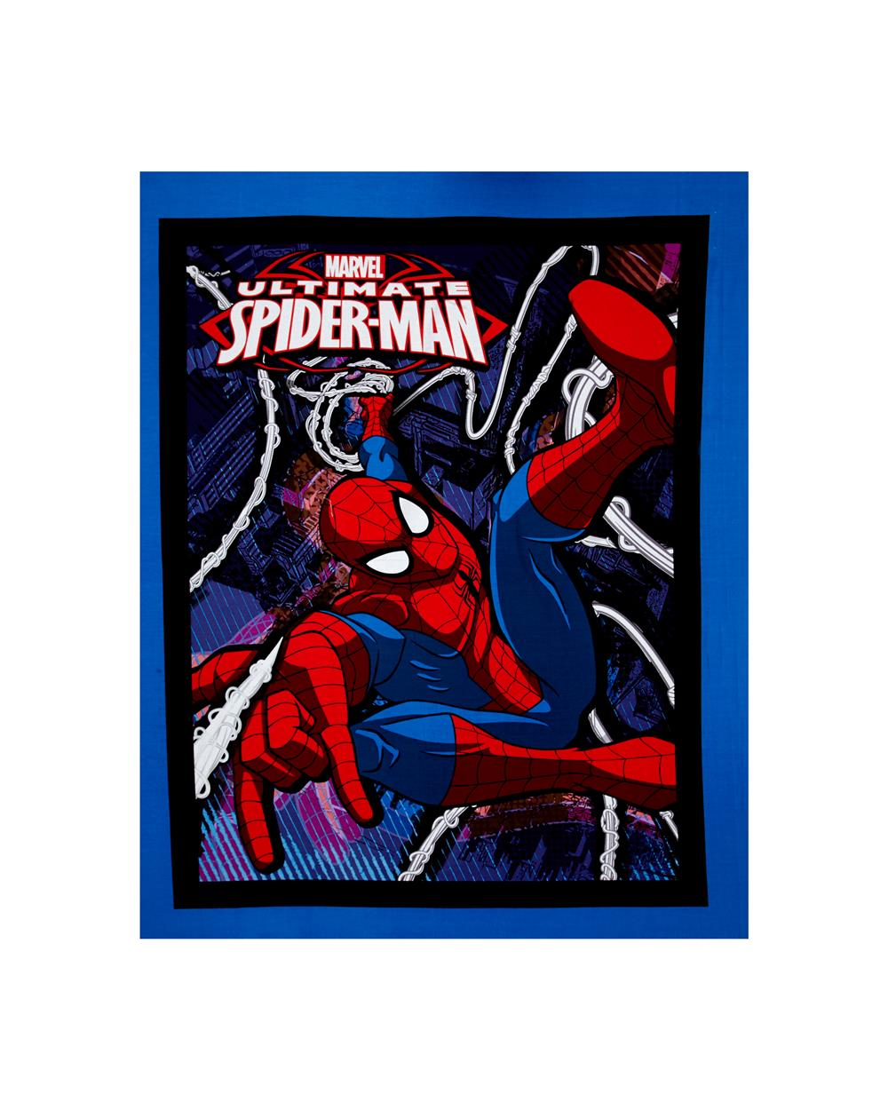 Marvel Spider Man Ultimate Spider Man Panel Blue Fabric By The Yard