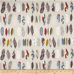 Kokka Trefle Natural Ethnic Feathers Canvas Cream
