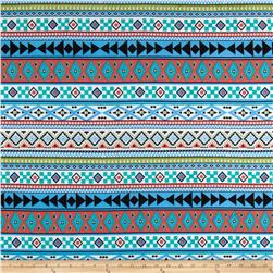 ITY Knit Aztec Blue/Red/Green/White