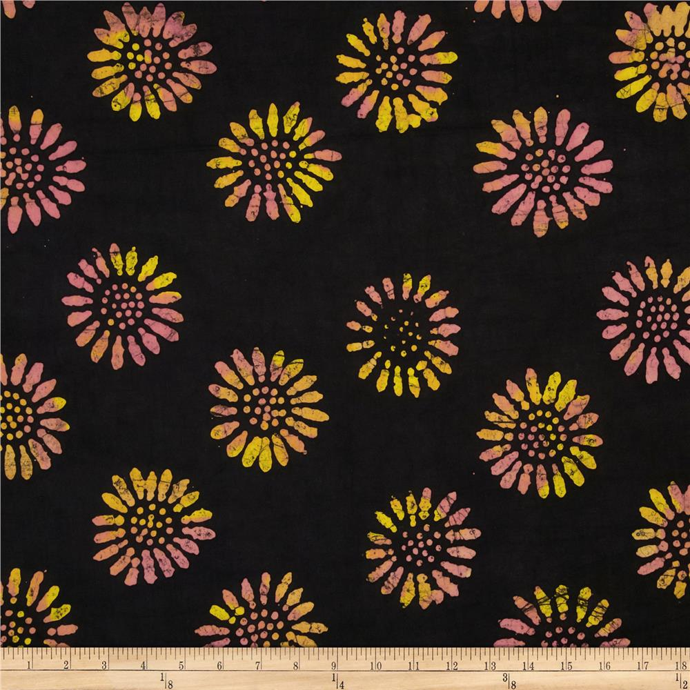 Indian Batik Daisy Orange/Yellow