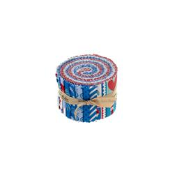 Riley Blake Star Spangled 2 1/2'' Rolie Polie Multi