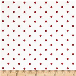 Premier Prints Mini Dots Twill White/Lipstick