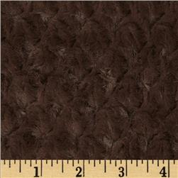 Minky Soft Tile Cuddle Chocolate Fabric