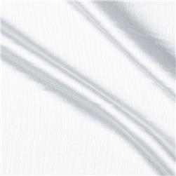 Slub Satin Charmeuse White