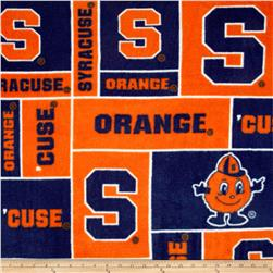 Collegiate Fleece Syracuse University Orange/Blue Fabric