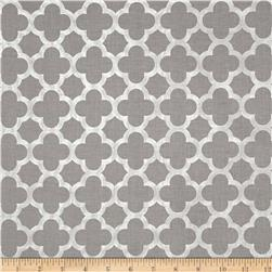 Riley Blake Sparkle Quatrefoil Gray Fabric