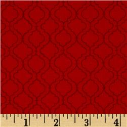 Moda Ever After Quatrefoil Lattice Romantic Red