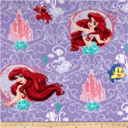 Disney Mermaid Scroll Frame Fleece